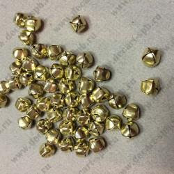 Бубунчик металлический диаметр 10мм 10штук цвет-золото