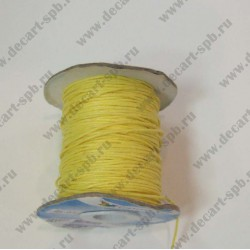 Шнур вощеный желтый 1мм 1м