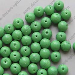 Бусина керамика 10мм зеленый