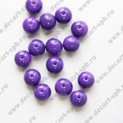 Бусина керамика 10мм темно-фиолет