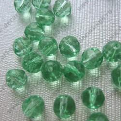 Бусины стеклянные 6мм граненые округлые зеленые 10шт